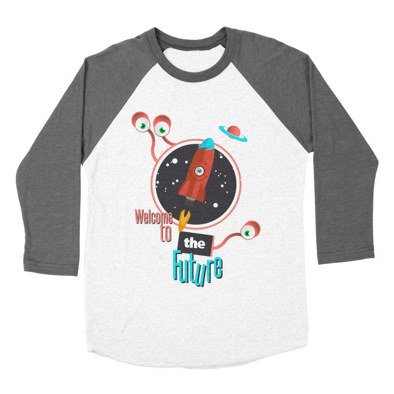Bienvenue dans le futur Men's Baseball Triblend Longsleeve T-Shirt by lepetitcalamar's Artist Shop