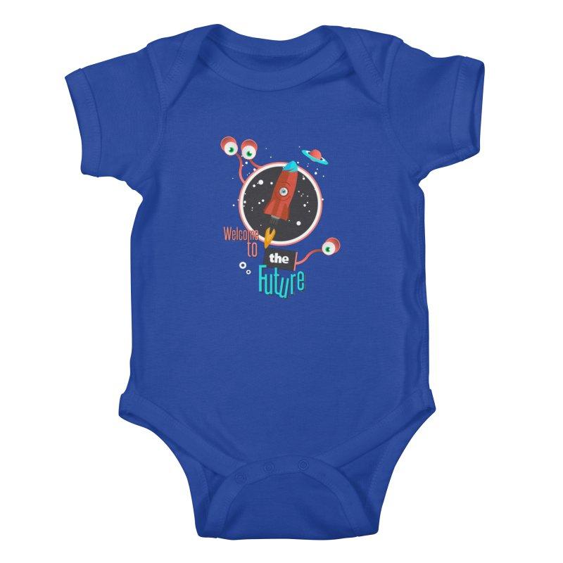 Bienvenue dans le futur Kids Baby Bodysuit by lepetitcalamar's Artist Shop
