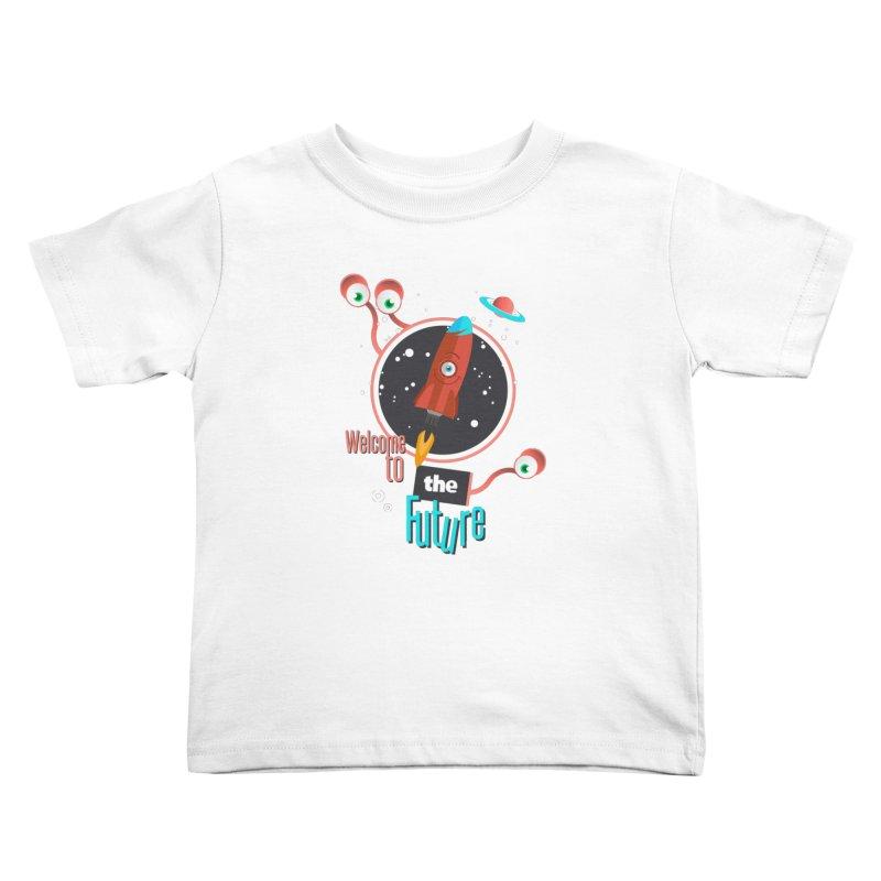 Bienvenue dans le futur Kids Toddler T-Shirt by lepetitcalamar's Artist Shop