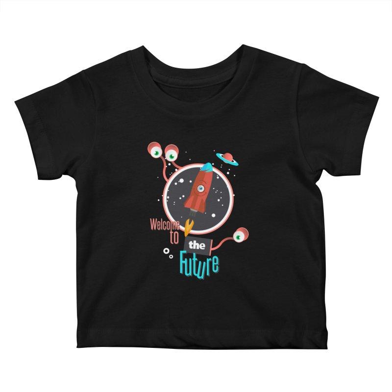 Bienvenue dans le futur Kids Baby T-Shirt by lepetitcalamar's Artist Shop