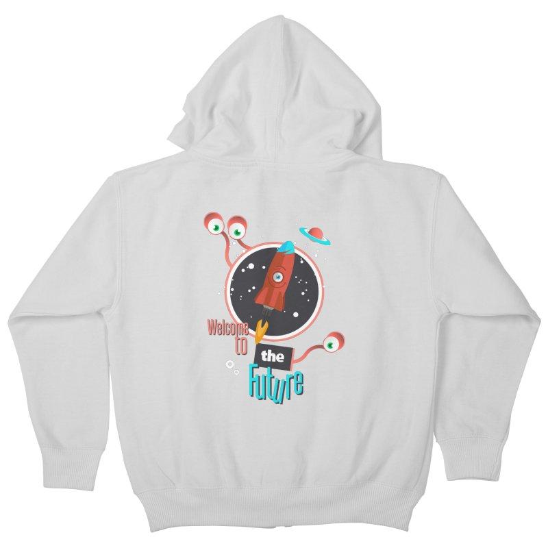 Bienvenue dans le futur Kids Zip-Up Hoody by lepetitcalamar's Artist Shop