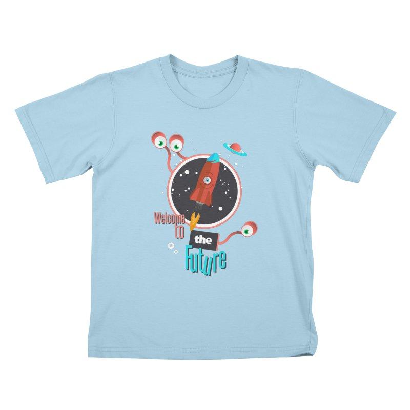 Bienvenue dans le futur Kids T-shirt by lepetitcalamar's Artist Shop