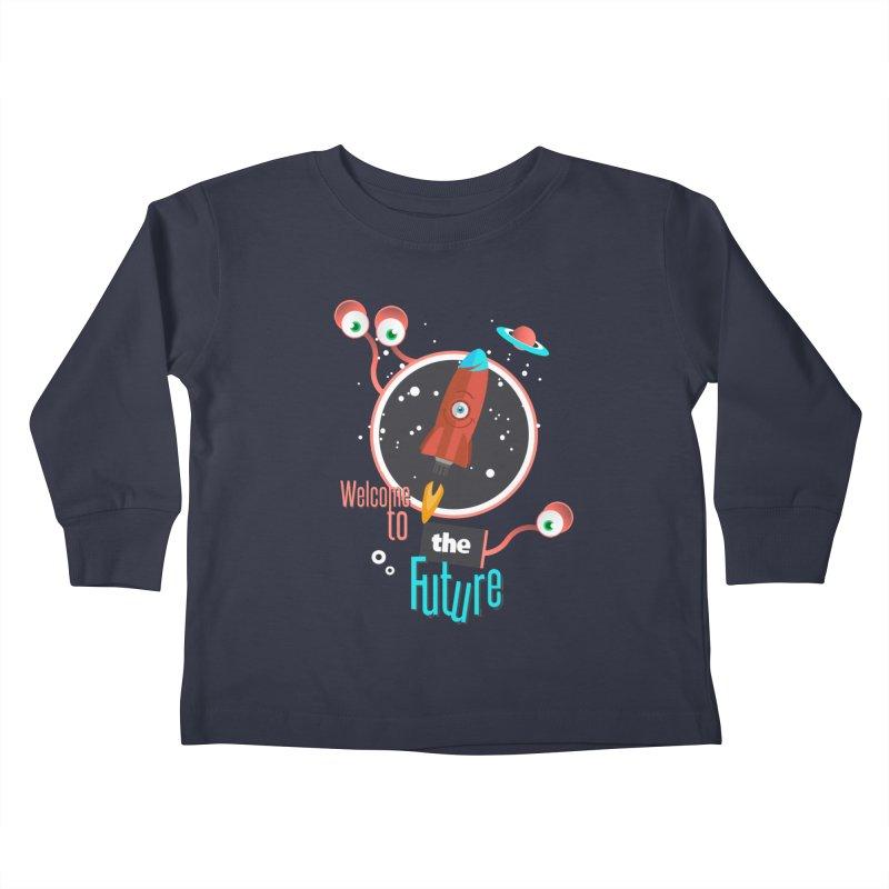 Bienvenue dans le futur Kids Toddler Longsleeve T-Shirt by lepetitcalamar's Artist Shop