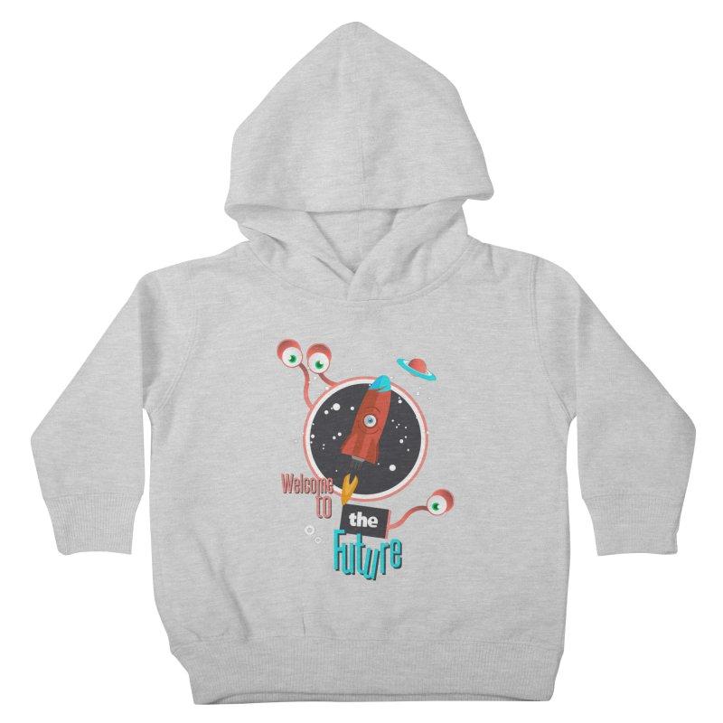 Bienvenue dans le futur Kids Toddler Pullover Hoody by lepetitcalamar's Artist Shop