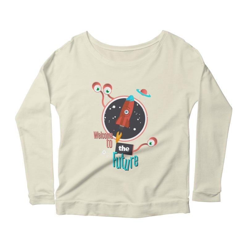 Bienvenue dans le futur Women's Scoop Neck Longsleeve T-Shirt by lepetitcalamar's Artist Shop