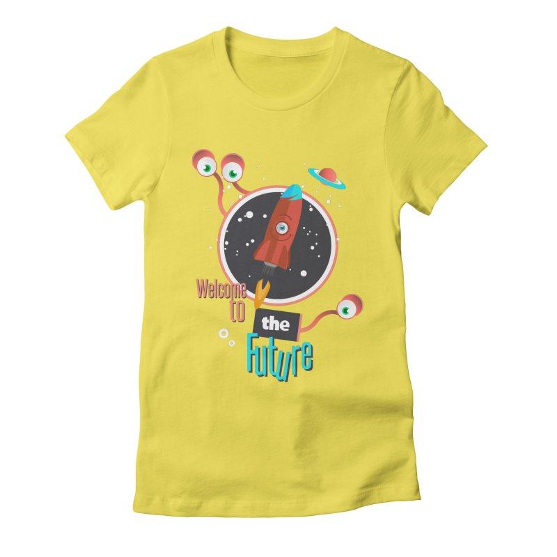 Bienvenue dans le futur Women's Fitted T-Shirt by lepetitcalamar's Artist Shop