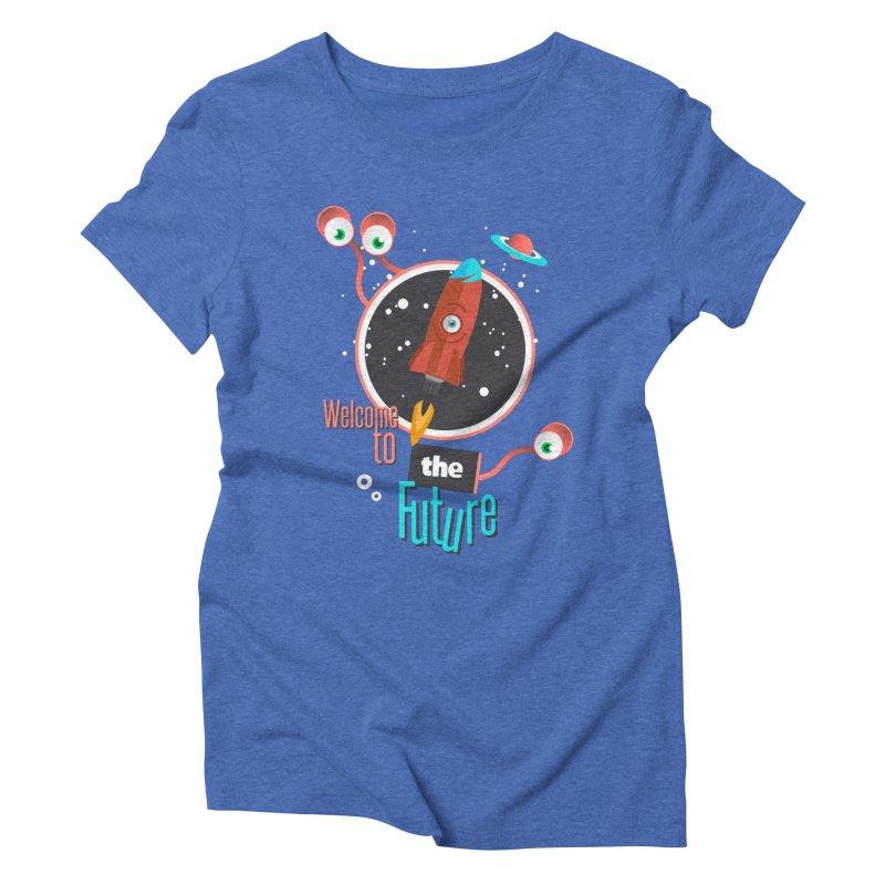Bienvenue dans le futur Women's Triblend T-Shirt by lepetitcalamar's Artist Shop