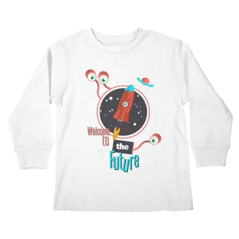 Bienvenue dans le futur Kids Longsleeve T-Shirt by lepetitcalamar's Artist Shop