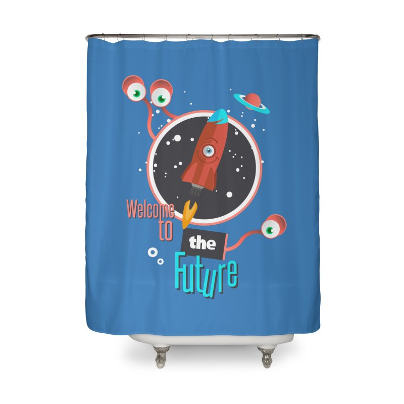 Bienvenue dans le futur Home Shower Curtain by lepetitcalamar's Artist Shop