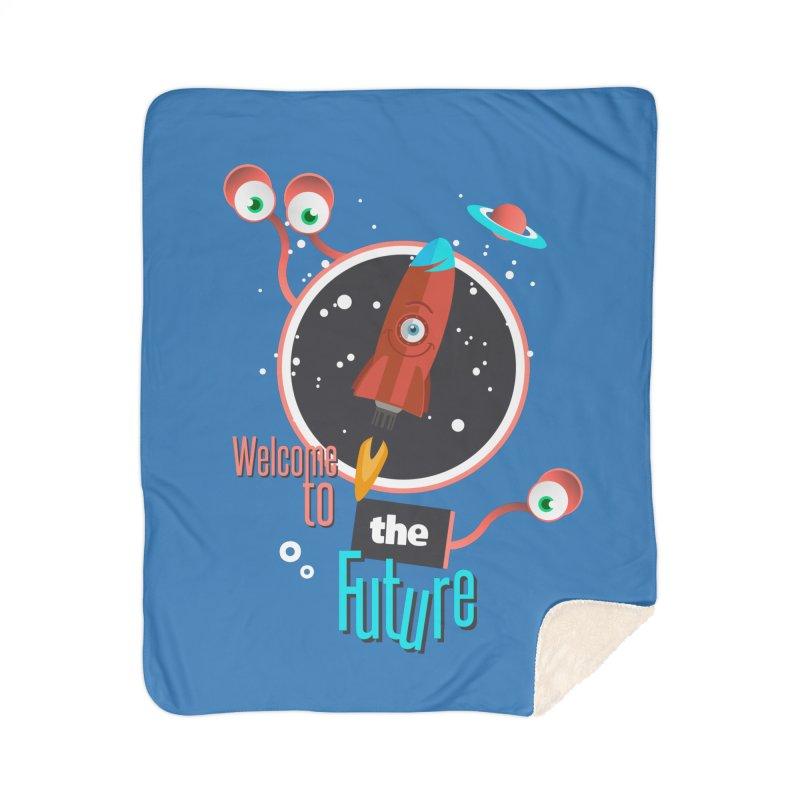 Bienvenue dans le futur Home Sherpa Blanket Blanket by lepetitcalamar's Artist Shop