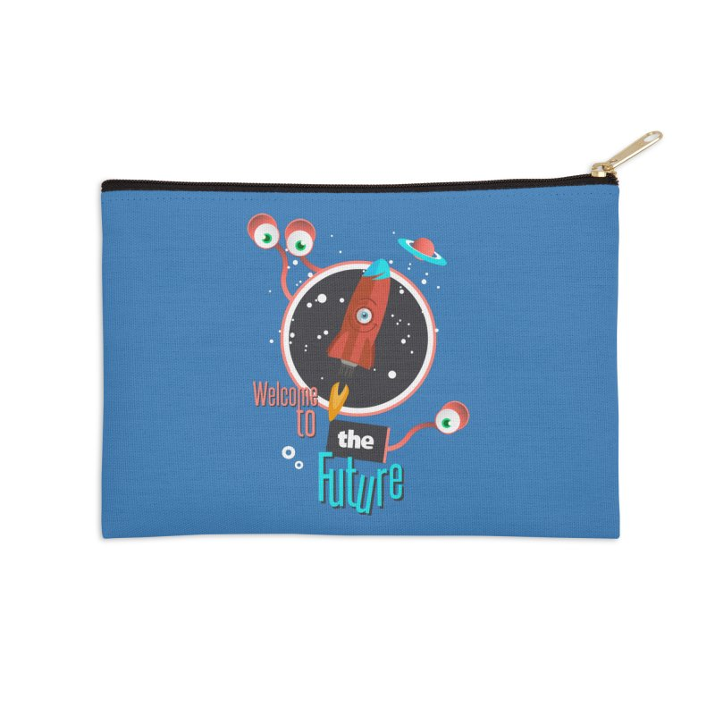 Bienvenue dans le futur Accessories Zip Pouch by lepetitcalamar's Artist Shop