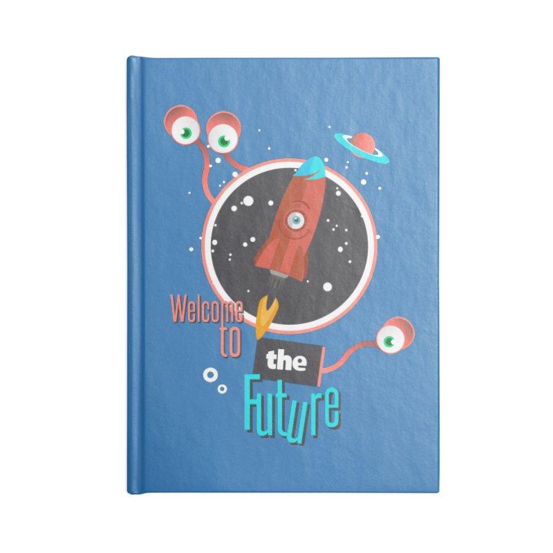 Bienvenue dans le futur Accessories Lined Journal Notebook by lepetitcalamar's Artist Shop