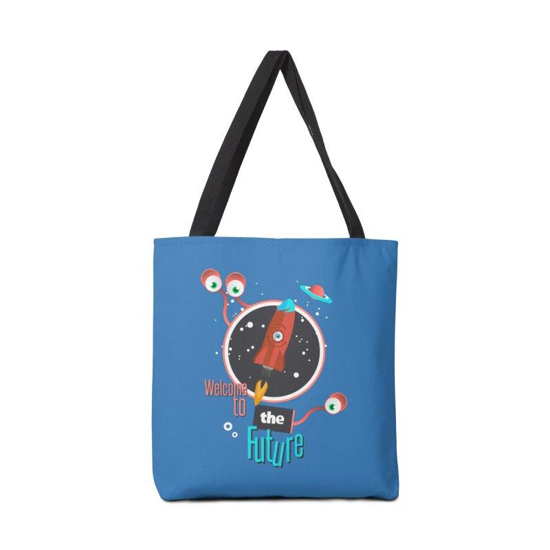 Bienvenue dans le futur Accessories Bag by lepetitcalamar's Artist Shop