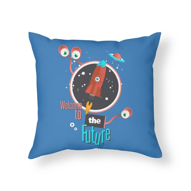 Bienvenue dans le futur Home Throw Pillow by lepetitcalamar's Artist Shop
