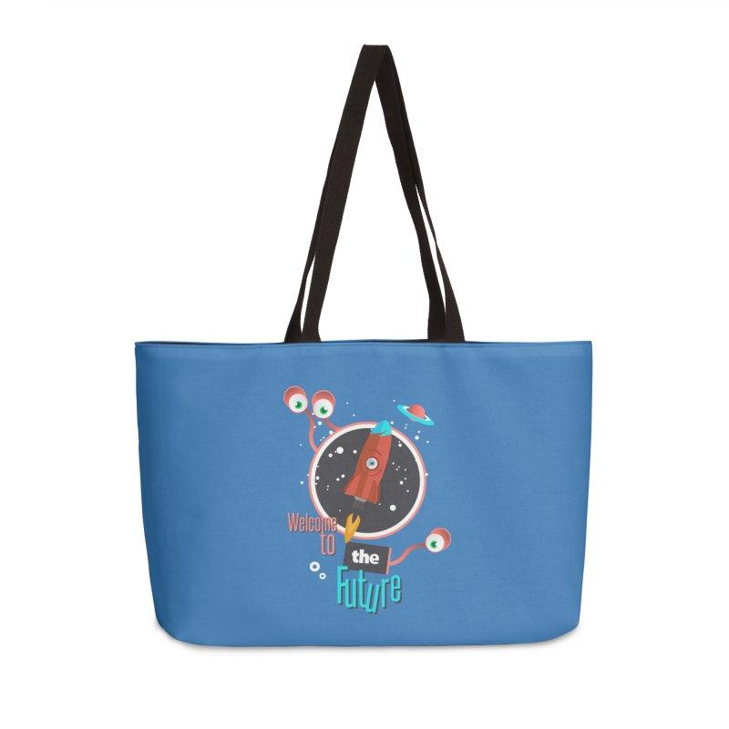 Bienvenue dans le futur Accessories Weekender Bag Bag by lepetitcalamar's Artist Shop