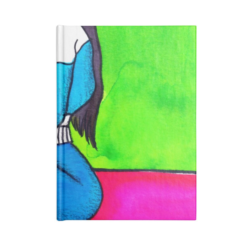 Woman with White Stilettos Accessories Notebook by lesliepinto's Shop