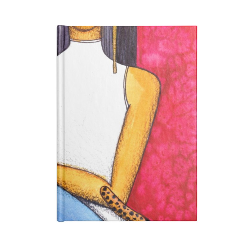 Woman and Cheetah Accessories Notebook by lesliepinto's Shop