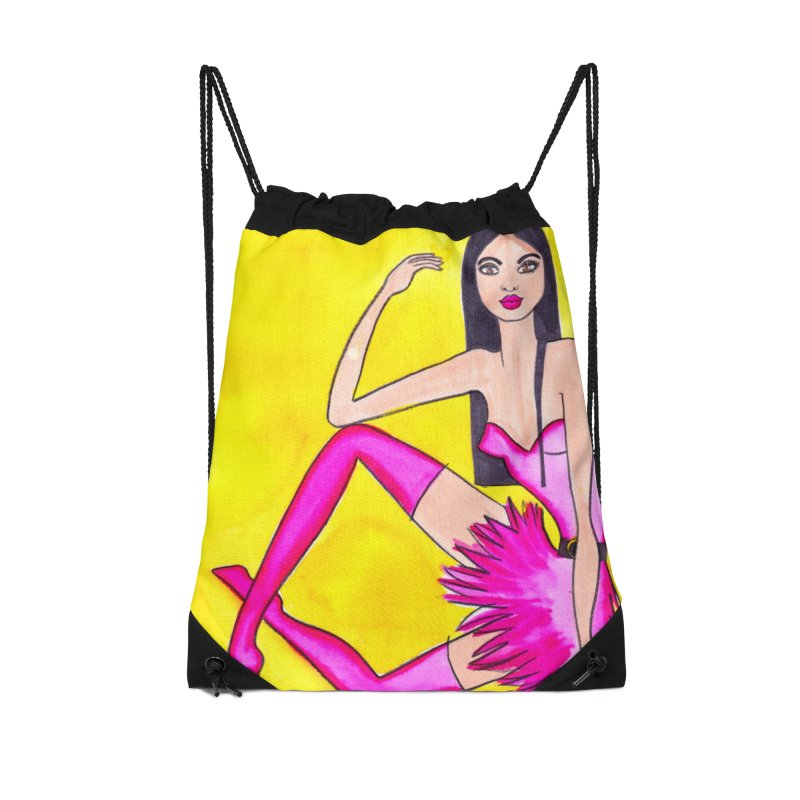 Fashion Trendy Woman in Pink Boots Accessories Bag by lesliepinto's Shop