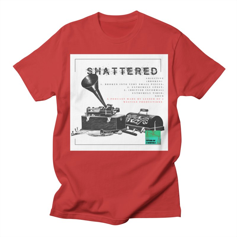 Shattered phonograph / adjective Men's T-Shirt by lesserof2weevils's Artist Shop