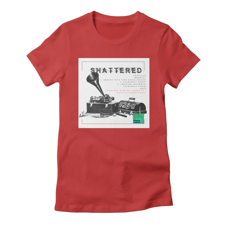 Shattered phonograph / adjective Women's T-Shirt by lesserof2weevils's Artist Shop