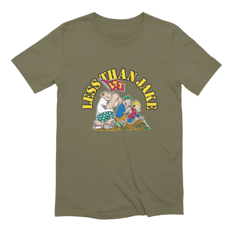 LTJima in Men's Extra Soft T-Shirt Olive by Less Than Jake T-Shirts and more!
