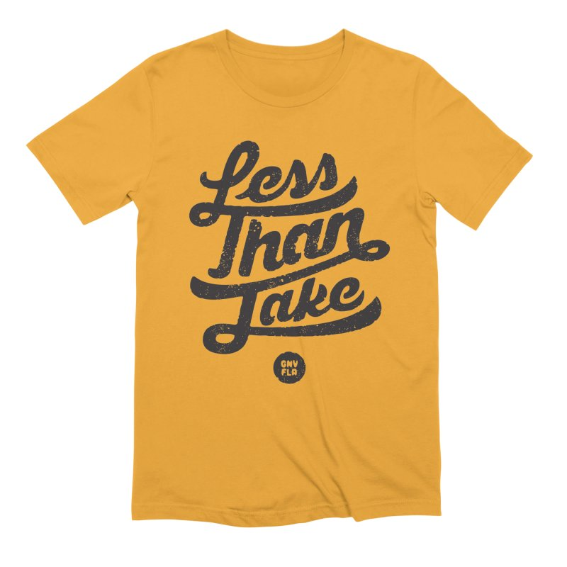 LTJ Script in Men's Extra Soft T-Shirt Gold by Less Than Jake T-Shirts and more!