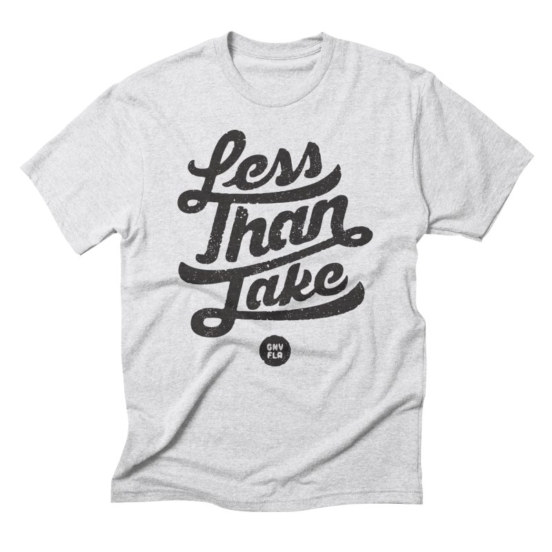 LTJ Script in Men's Triblend T-Shirt Heather White by Less Than Jake T-Shirts and more!