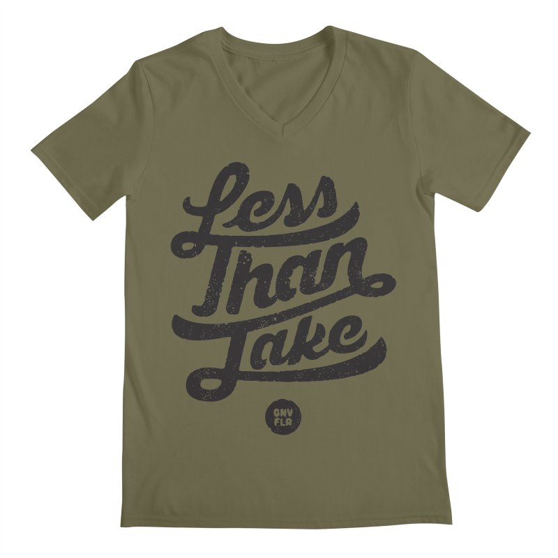 LTJ Script Men's Regular V-Neck by Less Than Jake T-Shirts and more!
