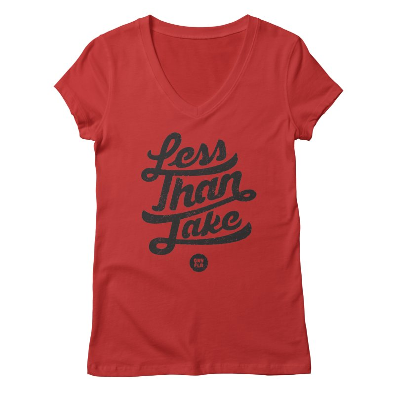 LTJ Script Women's Regular V-Neck by Less Than Jake T-Shirts and more!