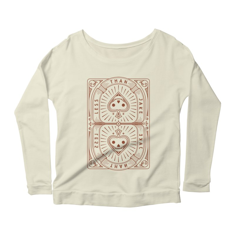 Card Women's Scoop Neck Longsleeve T-Shirt by Less Than Jake T-Shirts and more!