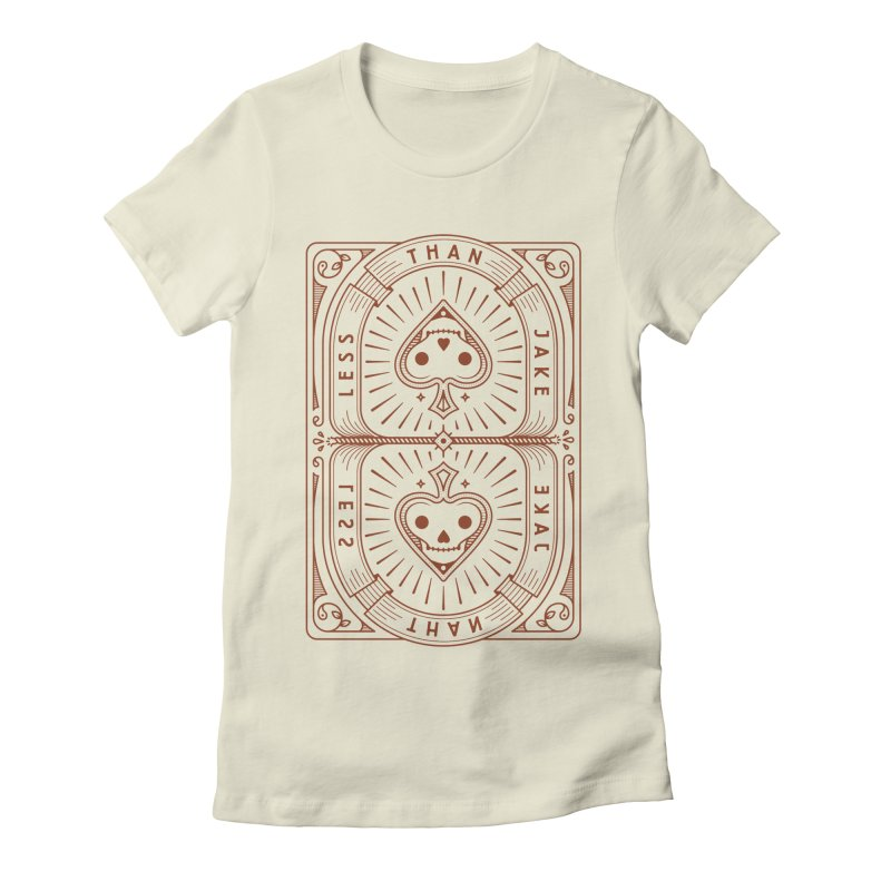 Card in Women's Fitted T-Shirt Natural by Less Than Jake T-Shirts and more!