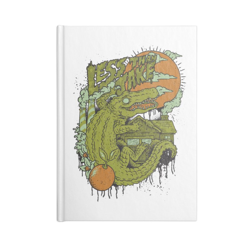 LTJ Gator Gville Accessories Lined Journal Notebook by Less Than Jake T-Shirts and more!