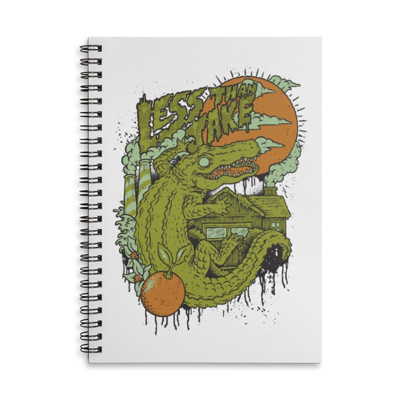 LTJ Gator Gville Accessories Lined Spiral Notebook by Less Than Jake T-Shirts and more!