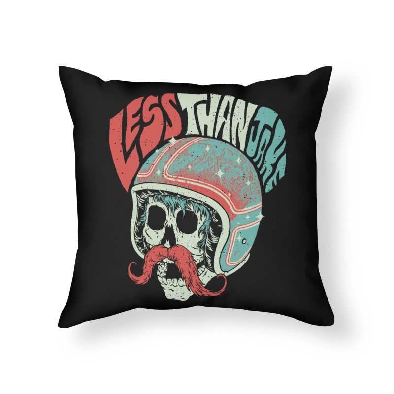 Biker Home Throw Pillow by Less Than Jake T-Shirts and more!