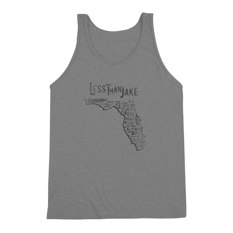 State Of Florida Men's Triblend Tank by Less Than Jake T-Shirts and more!