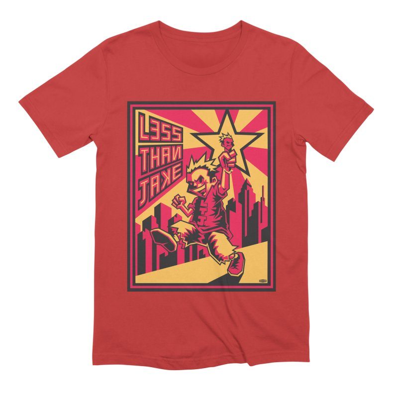 Evo Kid Commie in Men's Extra Soft T-Shirt Red by Less Than Jake T-Shirts and more!