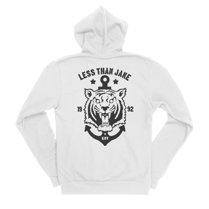 Tiger / Anchor Women's Sponge Fleece Zip-Up Hoody by Less Than Jake T-Shirts and more!