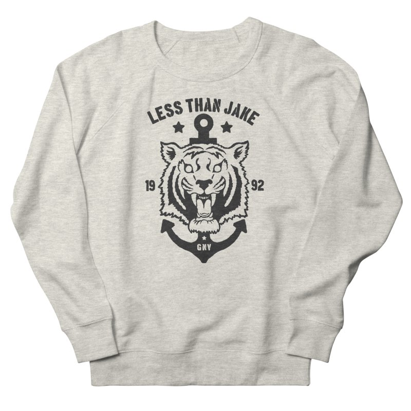 Tiger / Anchor Women's French Terry Sweatshirt by Less Than Jake T-Shirts and more!