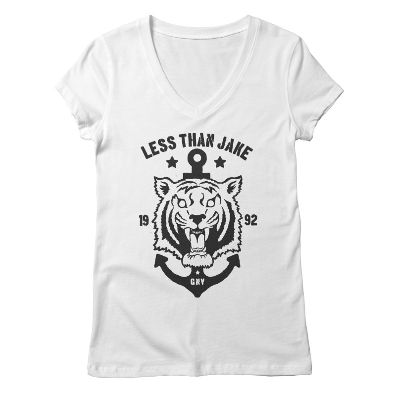 Tiger / Anchor Women's Regular V-Neck by Less Than Jake T-Shirts and more!