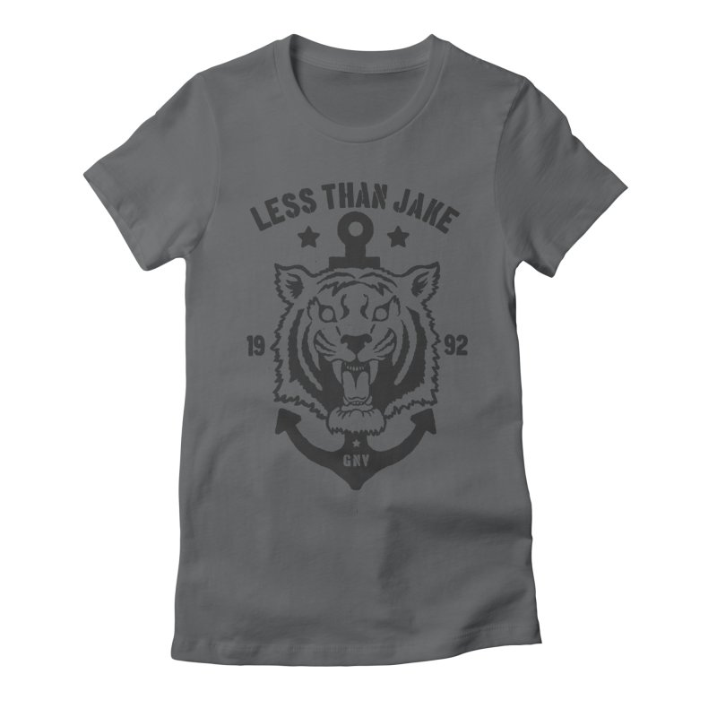 Tiger / Anchor Women's Fitted T-Shirt by Less Than Jake T-Shirts and more!