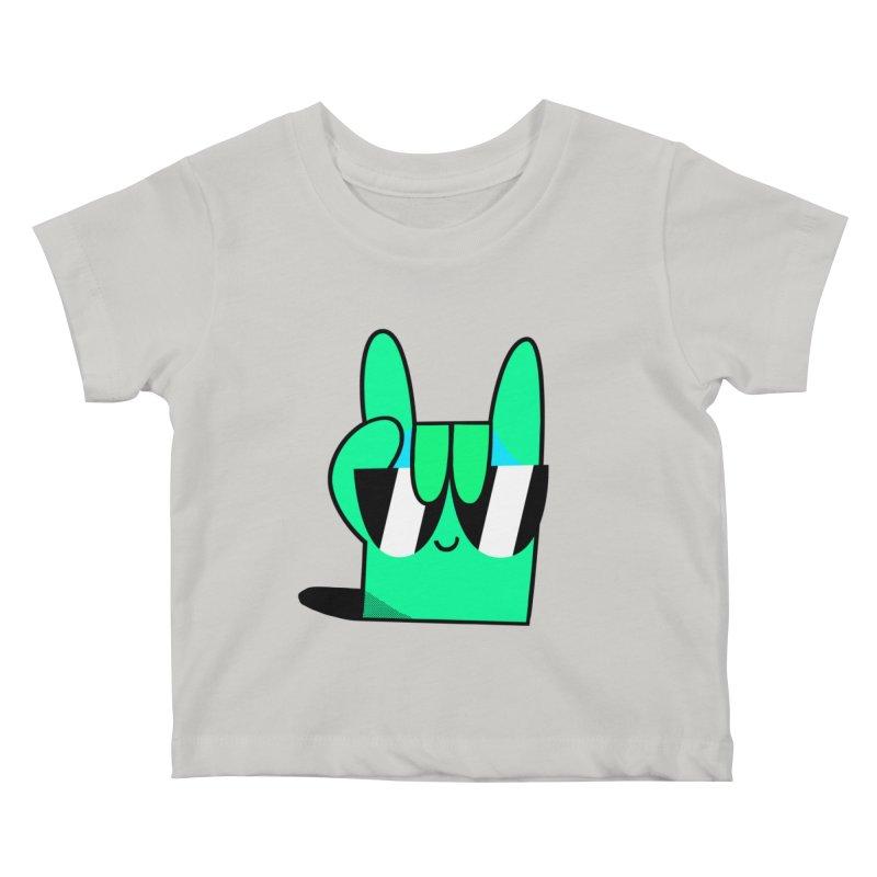 Stay Cool Kids Baby T-Shirt by letsbrock's Artist Shop
