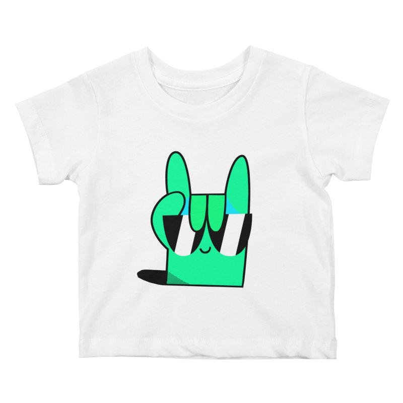 Stay Cool Kids Baby T-Shirt by letsbrock's Artist Shop