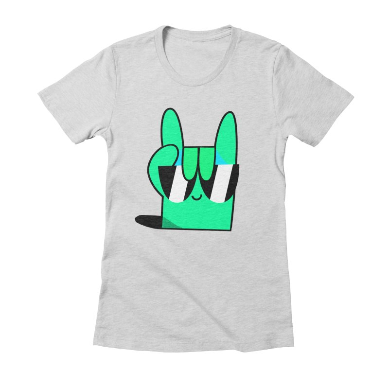 Stay Cool Women's Fitted T-Shirt by letsbrock's Artist Shop