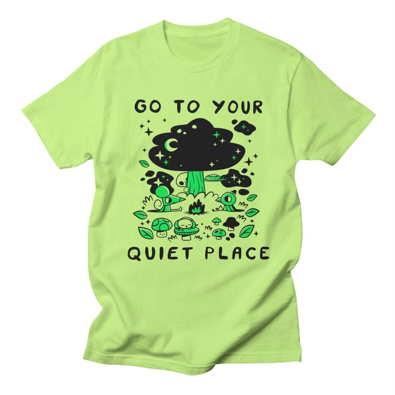 Quiet Place Men's T-Shirt by letsbrock's Artist Shop
