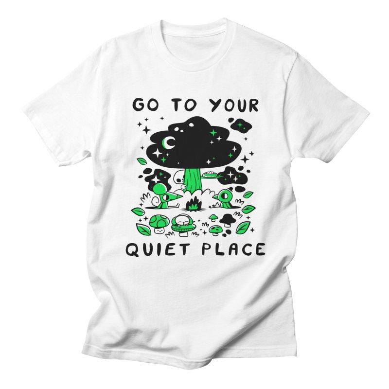 Quiet Place Men's Regular T-Shirt by letsbrock's Artist Shop
