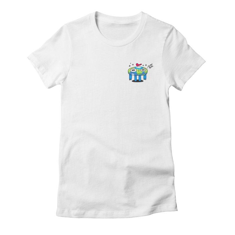 Flat Derp (Earth) Women's Fitted T-Shirt by letsbrock's Artist Shop