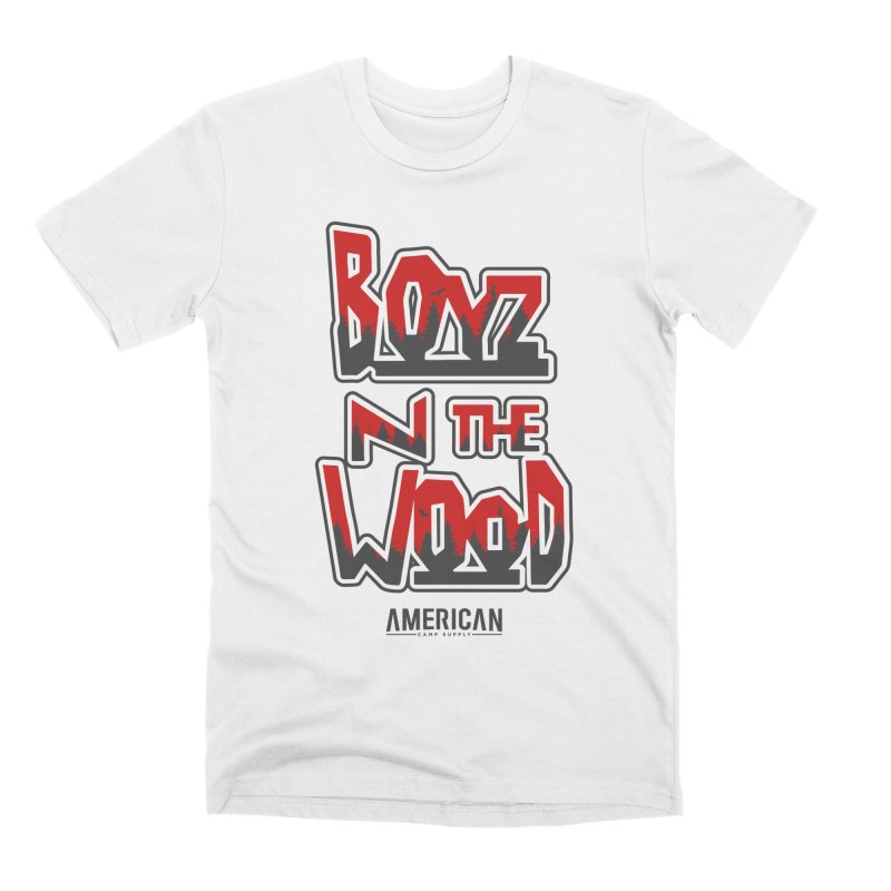 Boys in the Wood - White Men's T-Shirt by American Camp Supply