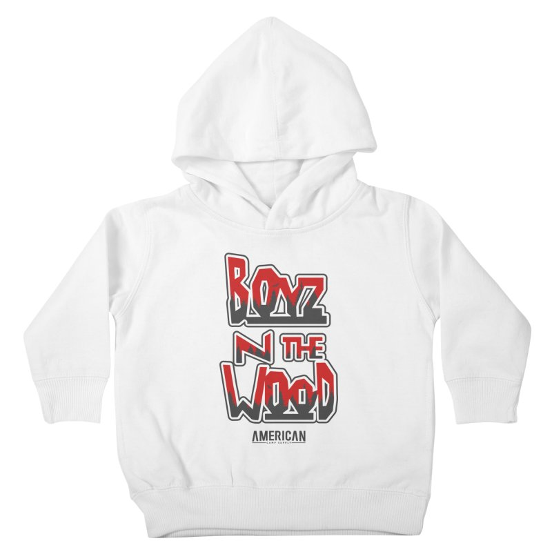Boys in the Wood - White Kids Toddler Pullover Hoody by American Camp Supply