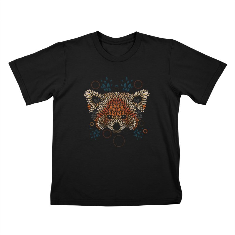 Red Panda Face Kids Toddler T-Shirt by letterq's Artist Shop