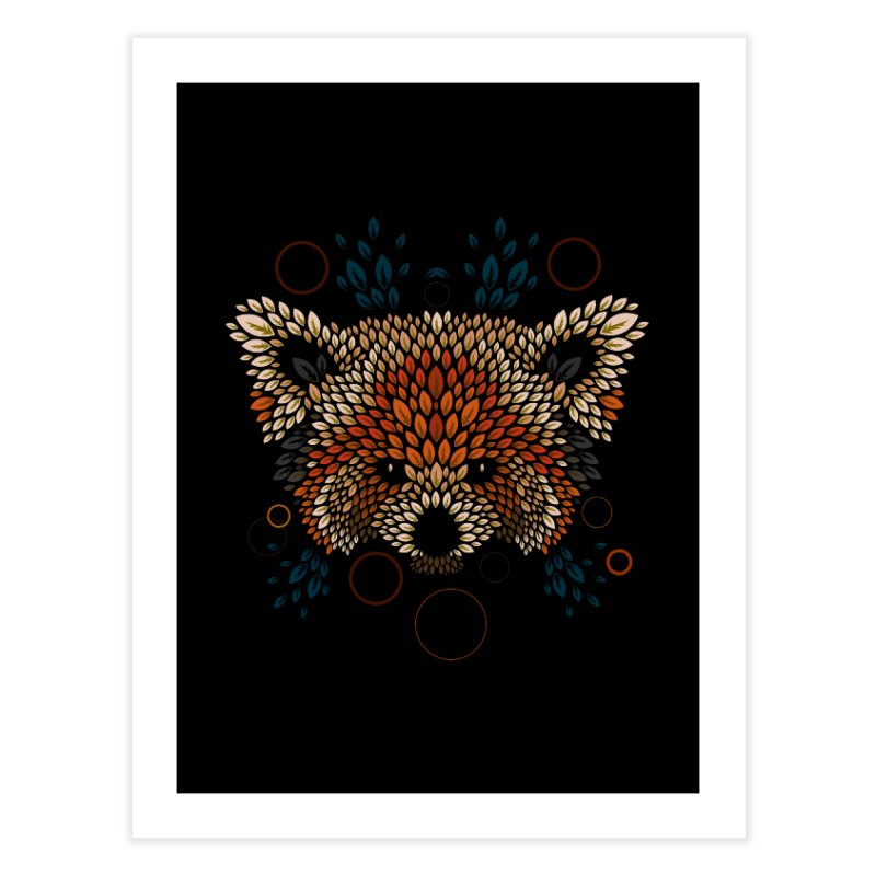 Red Panda Face Home Throw Pillow by letterq's Artist Shop